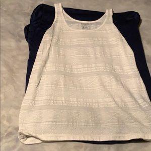Mossimo white lace tank top